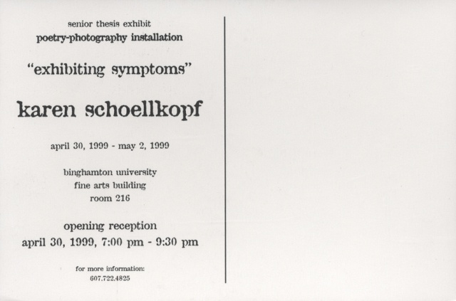 exhibiting symptoms postcard (back)