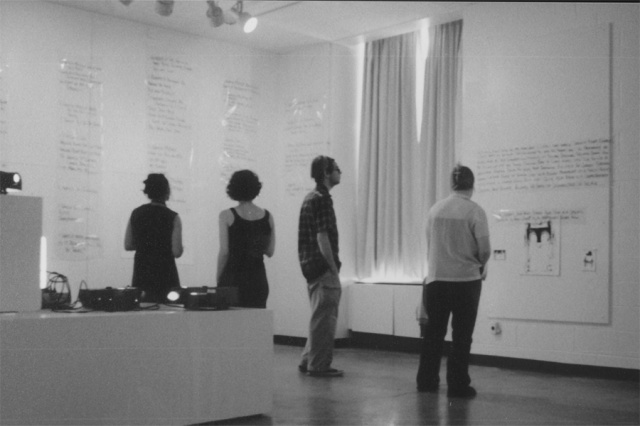 exhibiting symptoms installation view 2