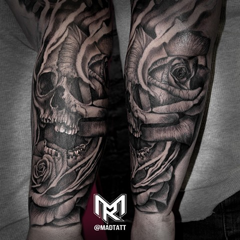 Skull and Rose Morph Madtatt Style