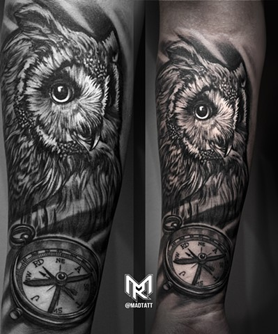 Owl and Custom compass