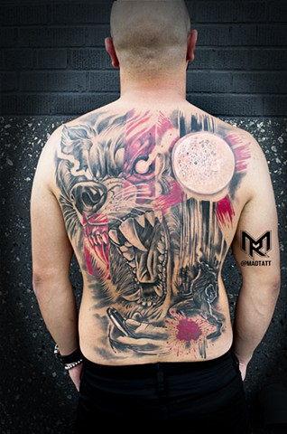 Werewolf Trash Polka Back Piece