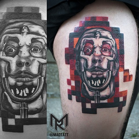 Custom Dali Tattoo
