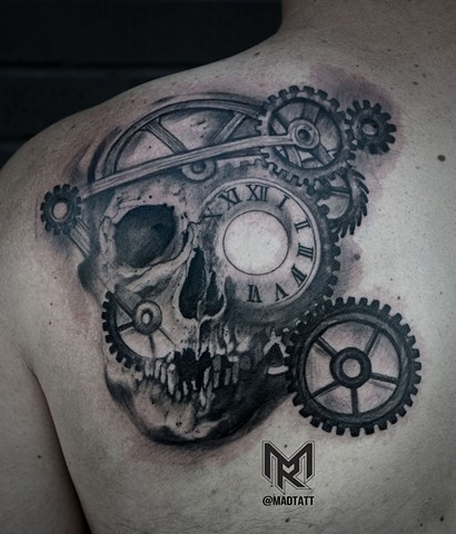 clocl tattoo, clocl, skull, skulltattoo, back tattoo, inked, inkedtattoos, skulltattoos, kickasstattooartists, maddalenaruggiero, madtatt, bambootattoostudio