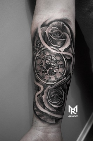 Pocket Watch and Roses