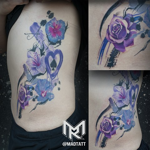 Custom Watercolor Styled Tattoo