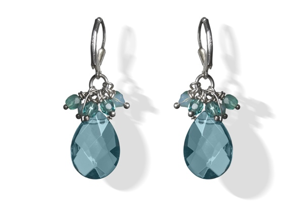 Aquamarine Sparkle Drop