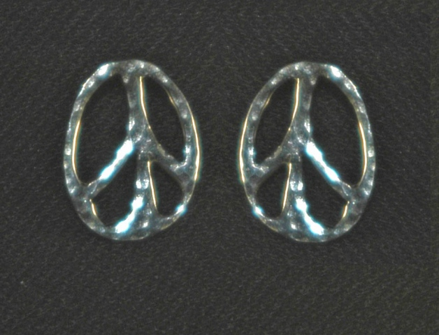 Peace Button Earrings