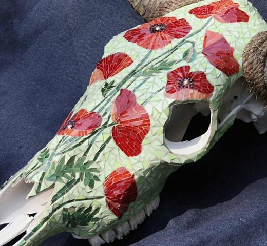 Poppies Skull, detail