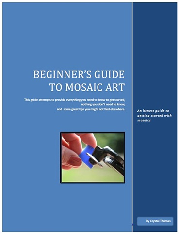 Online beginner mosaic lesson in downloadable PDF form