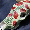 Poppies Skull, detail