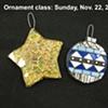 Mosaic Christmas ornament class