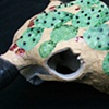 Prickly Pear Cactus Skull - detail