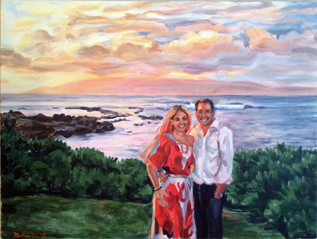 First Anniversary Gift: Painting from Photos of Honeymoon