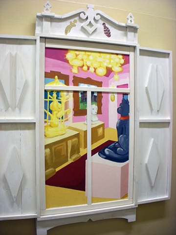 Detail of museum window