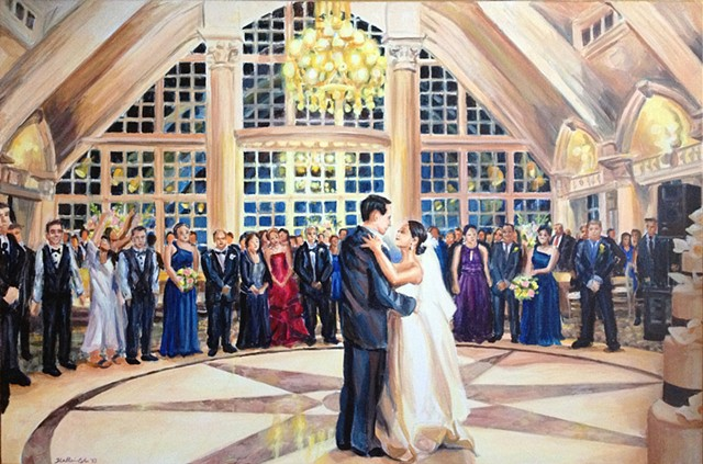 Wedding ceremony: first dance