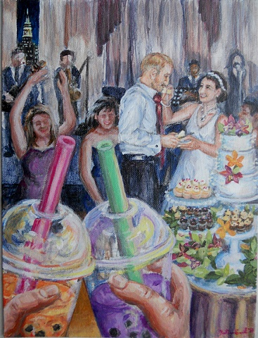 Virginia and Ronen's anniversary painting