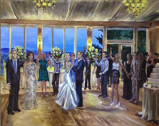 Wedding reception at the Mansion at Natirar
