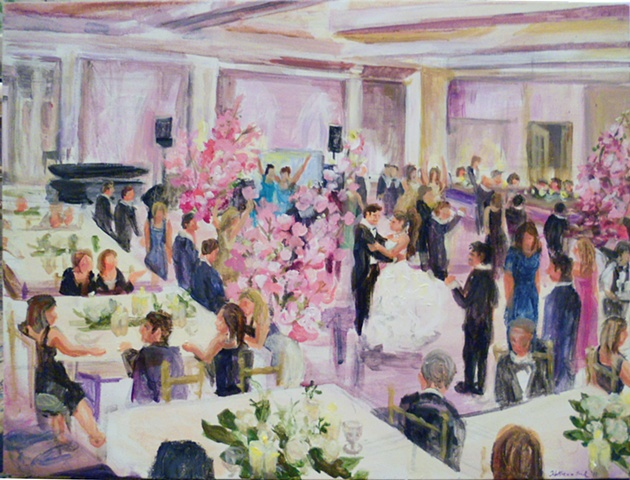 Final painting: Jeremy and Chelsea, completed at the reception