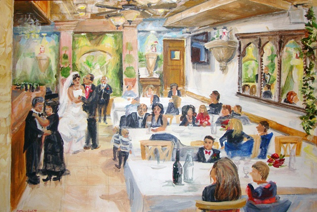 Janine and John's wedding at Il Cortile Restaurant, NYC