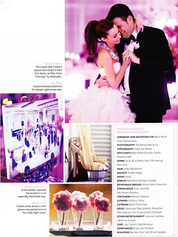 "From ""The Knot"" NYC, Fall/Winter 2012 issue. My painting of Jeremy and Chelsea's wedding at the Beach Point Country Club, Mamaroneck, NY Featured in ""14 Perfect Weddings."""