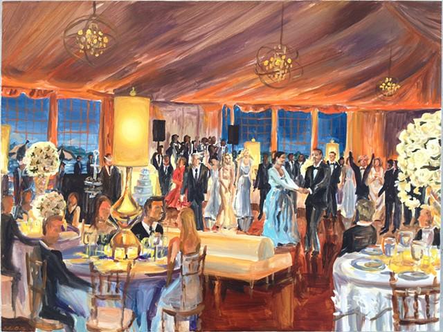Hamptons Wedding Reception in private backyard