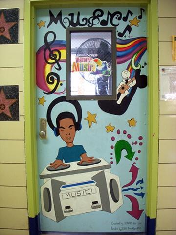 """MS 298 """"Music"""" classroom door"""