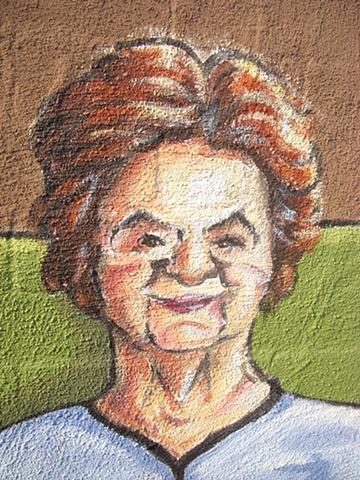 Detail from fire escape: Helen, original landlord
