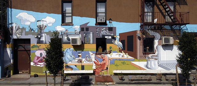 Root Hill Cafe Mural (full lower section)