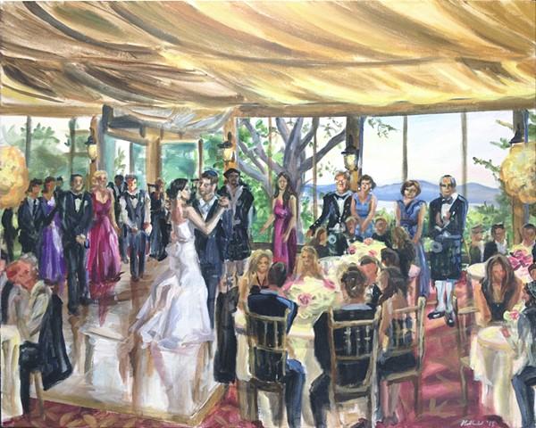 Wedding Reception at Tappan Hill, Tarrytown, NY