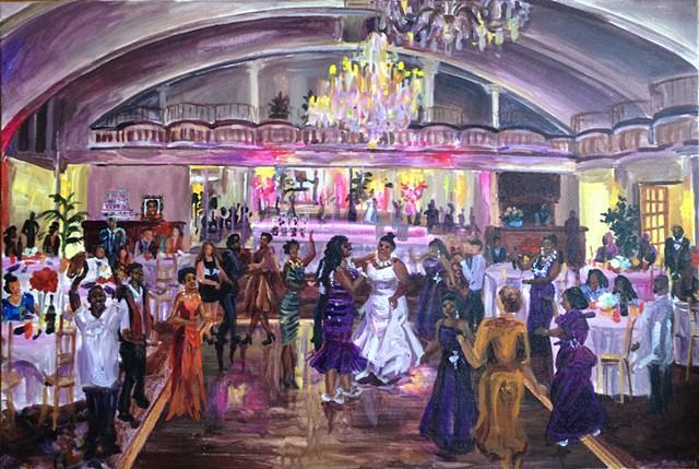 Monisha and Tamika's reception at the Alhambra Ballroom, Harlem
