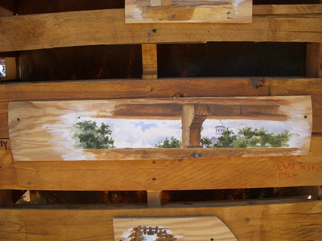 """Pallet City Plein-Air"" (detail)"
