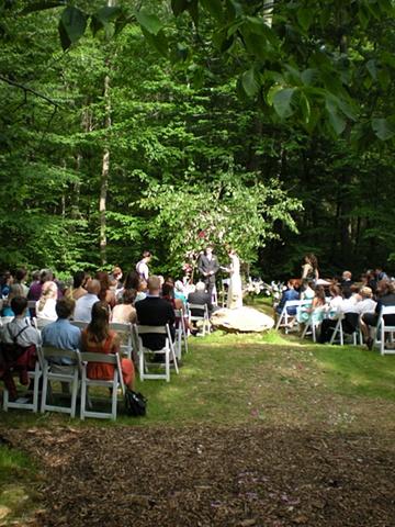 Damon and Sara's wedding reception at Catoctin Quaker Camp, MD