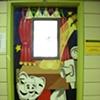 "MS 298 ""Drama"" classroom door"