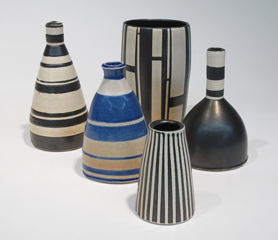 Group of vases up to 8 inches