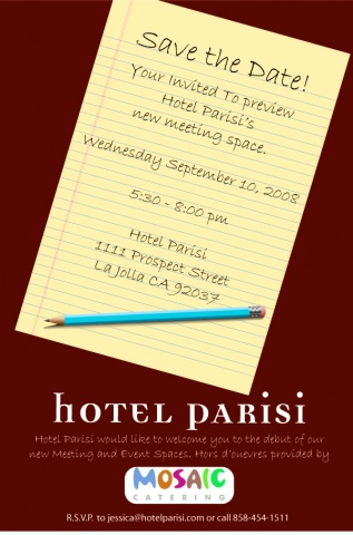 E-vite for Hotel Parisi Open House