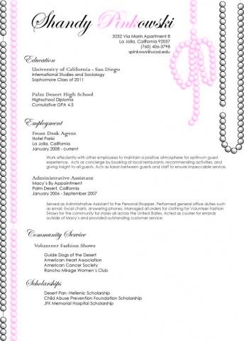 Resume for Shandy Pinkowski