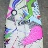 Hot pink girl Surf board