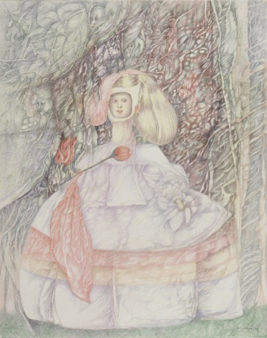 The Infanta in the Magical Garden of the Meninas