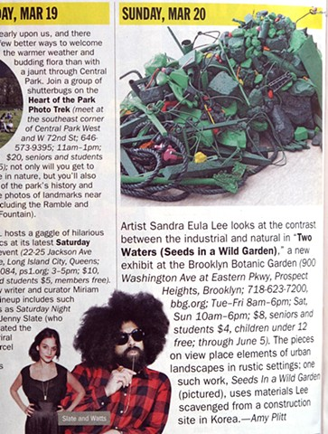 "Amy Plitt, ""Your Perfect Weekend"", Critic's Pick (image), Time Out New York, Issue 804"