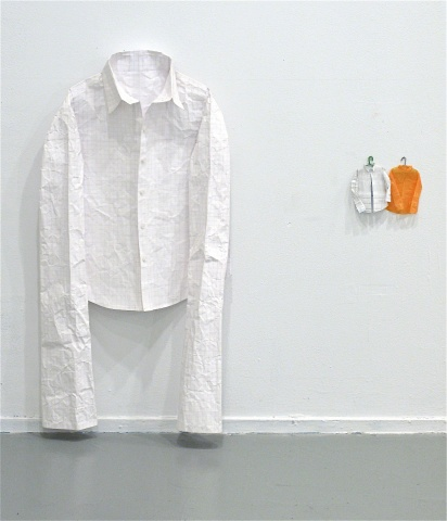 Installation view:  Shirt, Two shirts
