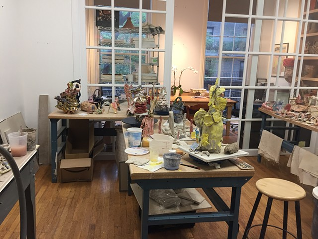 Lots of Sculptures in the Works: the Artist Fellowship Studio @ Greenwich House Pottery