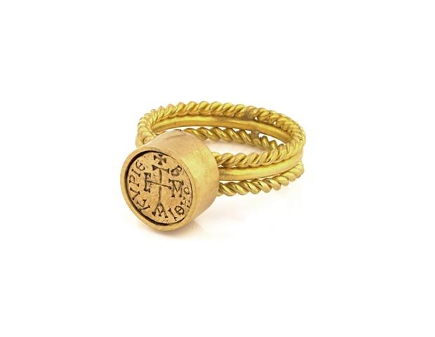 Greek Disc Ring