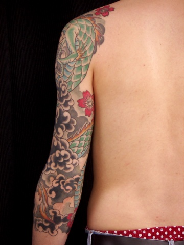 Dragon Sleeve ( Rear View )