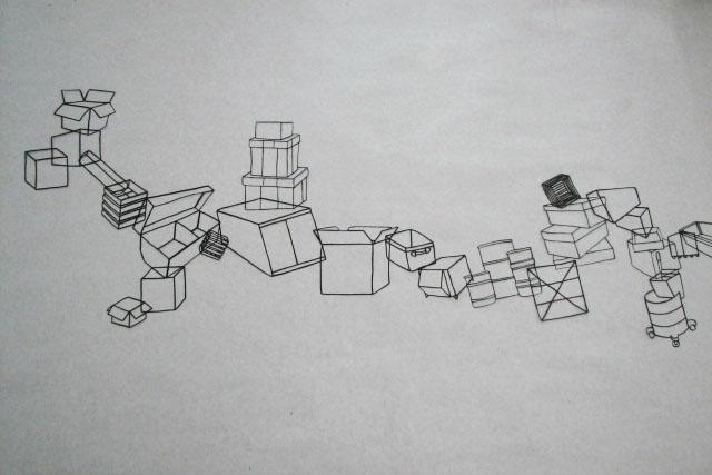 Boxes Landscape, view 1