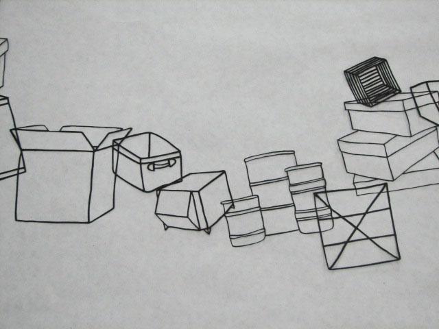 Boxes Landscape, detail 1