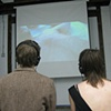 installation view of Fly 08 16 mm transferred to DVCAM ed. of 5 + 2 APs sound/color 3 min. 3 sec.