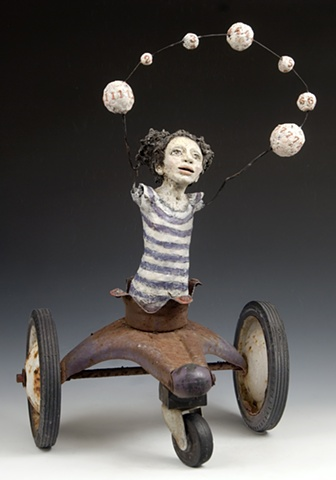having already mastered the art of juggling in motion, they knew she was destined for greatness