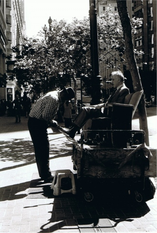 Shoe Shine in the Sun