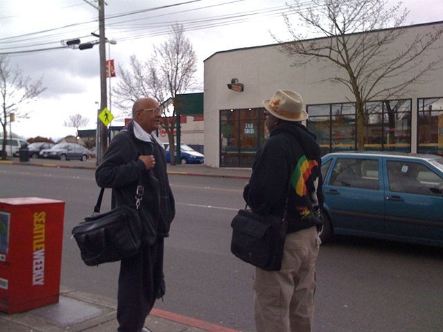 Folks @ the 23rd Ave/S Jackson Bus Stop
