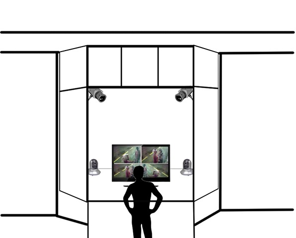 Proceed concept sketch for store front window